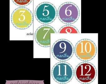 Baby Monthly Printable Stickers