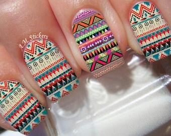 Aztec Print Nail Decals