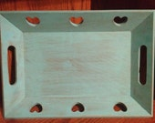 Turquoise Shabby Chic Serving Tray