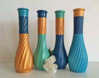 navy blue home decor navy blue vases bud vases navy decor navy vases