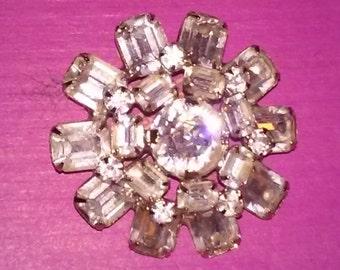 1950s Vintage Faux Diamond Broach