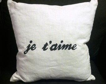 I Love You Pillow (French)