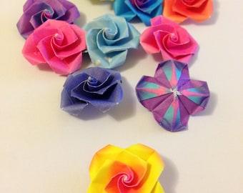 Mini origami flowers- 20+ pack