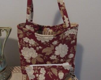The Anywhere Handbag three piece handbag style tote with matching makeup bag and credit card holder