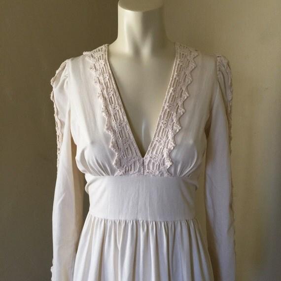 Gunne Sax Dress Vintage Wedding Dress Rustic Wedding Dress