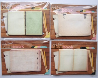 Notebook style sticky notes / memo pad