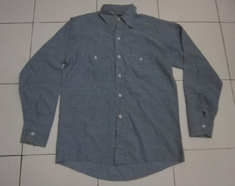 Vintage Dee Cee Chambray 70s Made in USA