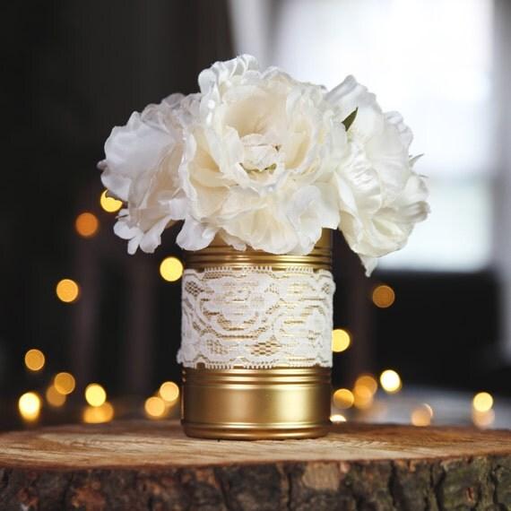 Articles similaires bo te de conserve peinte la main couleur or d coration de mariage - Deco avec boite de conserve pour mariage ...