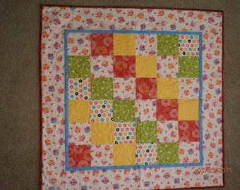 homemade baby quilt, baby quilt, child's quilt, owls, baby quilt for girls, nursery decor, baby girl gift, pink quilt