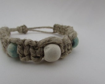 Adjustable Hemp bracelet/anklet