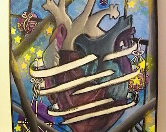 The Heart Acrylic Painting on Canvas