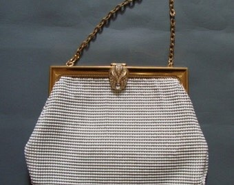 Vintage 1950s/1960s 50s Whiting and Davis Gold Mesh Handbag with Purse