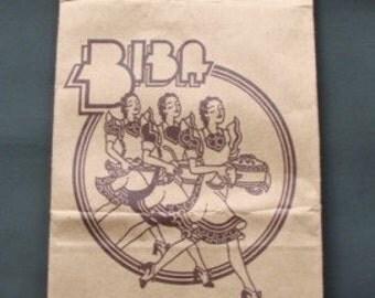 Vintage 1960s/1970s 60s 70s Biba Store Art Deco Paper Food Hall Bag Advertising