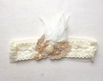 Chiffon baby toddler kids girls headband, baby wedding headband, wedding accessories, baby wear, one of a kind, handmade !!!