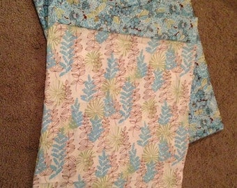 Blue floral pillowcases