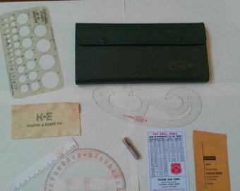 Antique drafting set