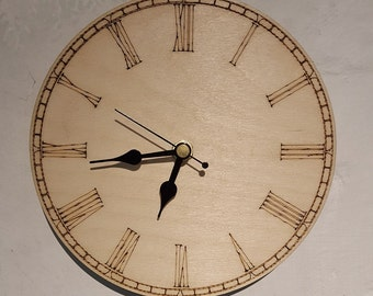 Laser Etched Wall Clocks