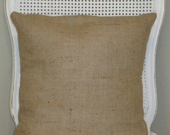 Burlap Hessian Cushion Cover with a deep envelope opening