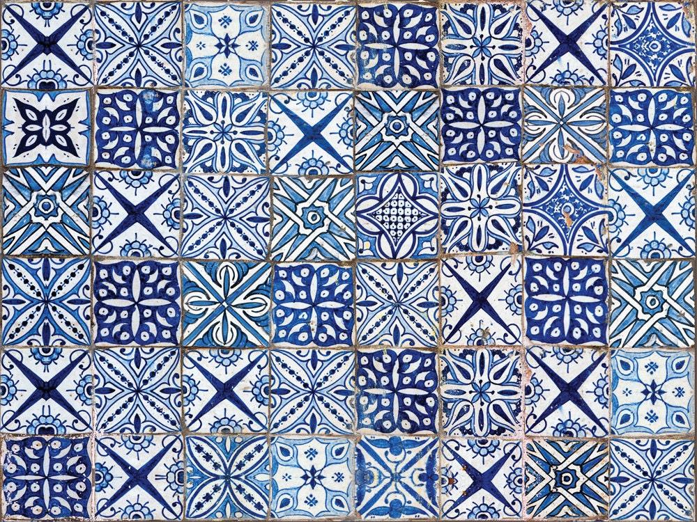 fliesen teppich modell maroko linoleum teppich von printip. Black Bedroom Furniture Sets. Home Design Ideas