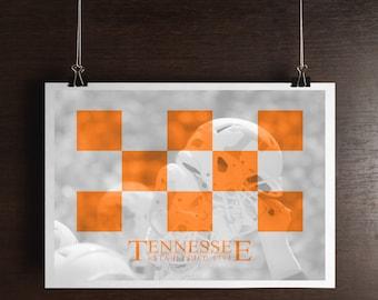 Tennessee Print - Tennessee Art - Tennessee Vols - Tennessee - Volunteers - Football Print
