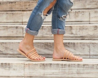 Greek Strappy Women Sandals - Leather Greek Sandals - 12 colors available
