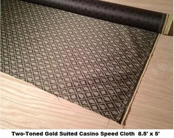 Two Tone Gold Suited Casino Speed Cloth 8.5u0027 X 5u0027   Waterproof