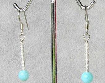 Seafoam Peruvian Opal & Sterling Silver EARRINGS! 6134