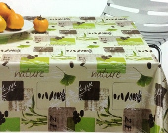 Oilcloth table cloth by the metre nature C141092