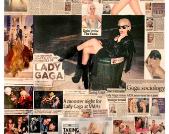 Lady Gaga Collage has been sold.