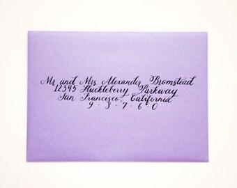 Addressing Wedding Invitations - Handwritten Modern Calligraphy Script