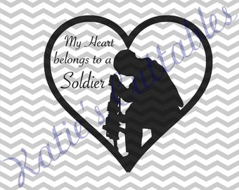 My Heart Belongs To A Soldier .SVG File