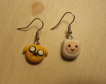 Adventure Time Finn and Jake Earrings!