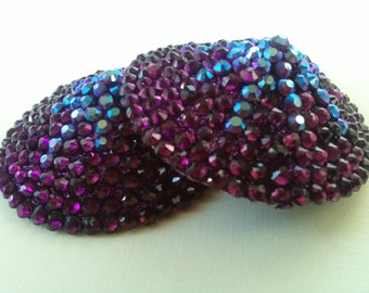 Purple Rhinestone Pasties