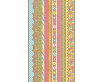 Doodlebug Design~Fancy Frills Stickers~13x6~Hello Sunshine