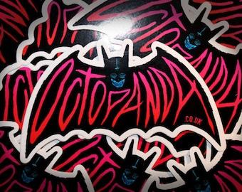Octopanda Bat Stickers
