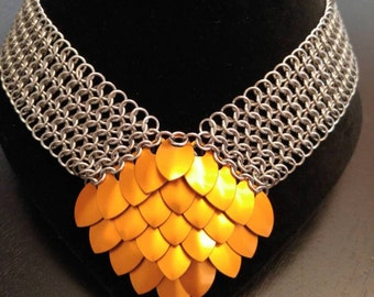 Diamond Dragon Scale Necklace