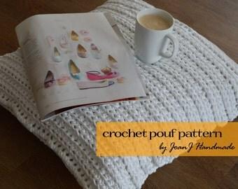 Crochet Pattern Notation : Crochet pouf pattern Etsy