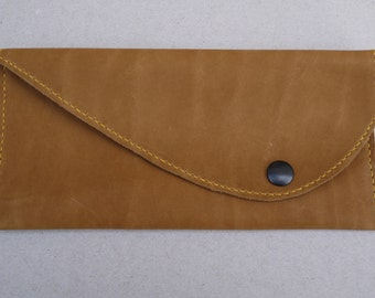 Pouch brown leather Unisex