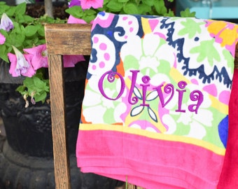 Personalized Vera Bradley Towels