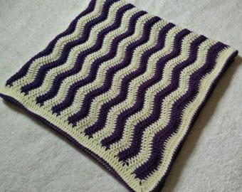 Purple Waves Baby Blanket