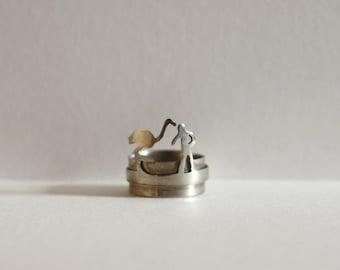 Handmade Ostrich Animal-Human Ring