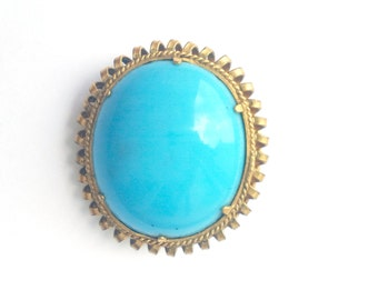 Vintage Blue Brooch Pin
