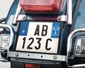 Sticker heater time - Back to the future - for scooter registration plates