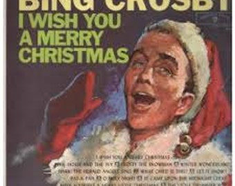 BING CROSBY I Wish You A Merry Christmas LP 11 Track Gold Label Mono