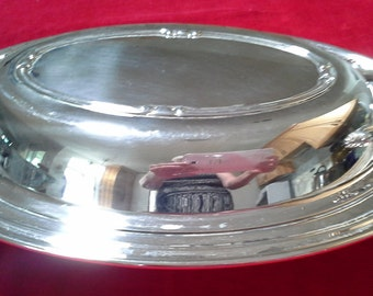 Antique Silver Plate Covered Serving Dish