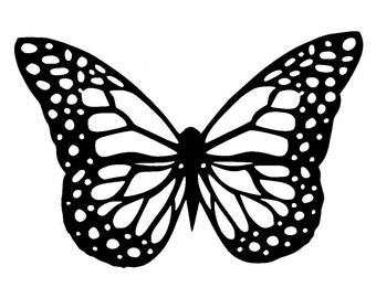 """5.8/8.3"""" Butterfly stencil and template design 1. A5"""