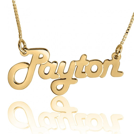 Name Necklace Gold Harlem name Necklace Gold Name Necklace Gold ...