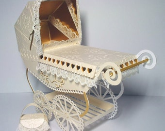 SVG Vintage Pram with choice of covers and parasols and box
