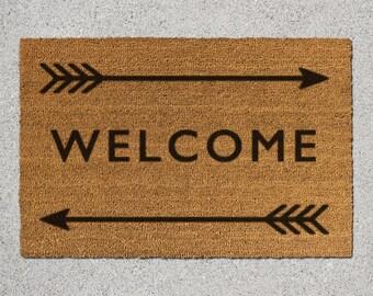 Welcome Doormat, Welcome Door Mat, Welcome Mat, Doormat, Door Mat, Arrow Doormat, Arrow Door Mat, Arrows Mat, Welcome and Arrows, Arrow Mat