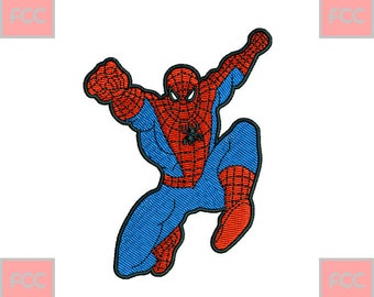 Spider Male Full Stitches Machine EmbroideryDesign in 3 sizes **INSTANT DOWNLOAD**